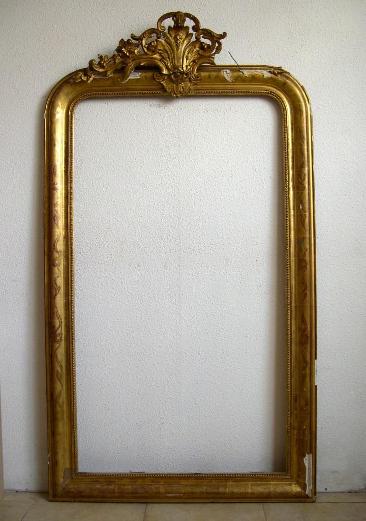 Marco dorado con espejo for Espejo marco dorado
